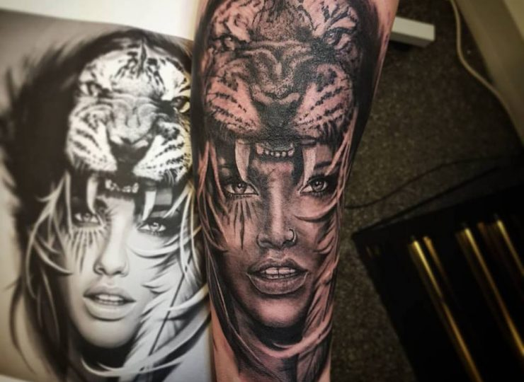 portsmouth-ink-tattoo-studio-etgar-lion-woman