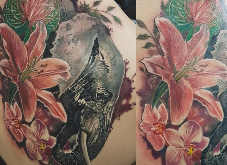 portsmouth-ink-tattoo-studio-portfolio-anna-elephant-flowers